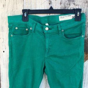 rag & bone Jeans - Rag & Bone Turquoise Capris